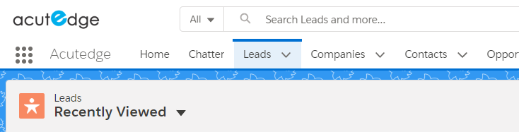 Salesforce Lightning Experience Global Header
